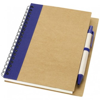 Priestly gerecycled notitieboek met pen_Naturel