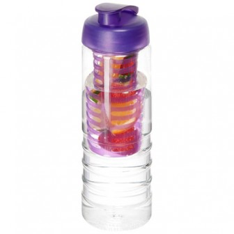 H2O Treble 750 ml drinkfles en infuser met kanteldeksel_Wit