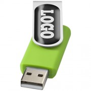 Rotate-doming USB 2GB_neon green