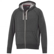 Groundie heren sweater met volledige rits_Heather Smoke