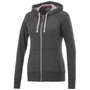 Groundie dames sweater met volledige rits_Heather Smoke